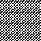 Abstract Black And White 3D Geometric Seamless Pattern. Vector Illustration. Optical Illusion. Chess Effect. Stock Images