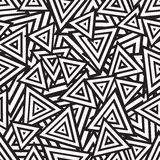Abstract Black And White Seamless Pattern. Vector Royalty Free Stock Photos