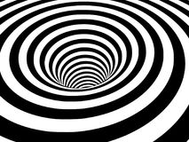 Free Abstract Black And White Striped Optical Illusion Three Dimensional Geometrical Wormhole Shape Royalty Free Stock Photo - 110757095