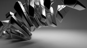 Abstract black background. Abstract black metal elements on background Royalty Free Stock Images