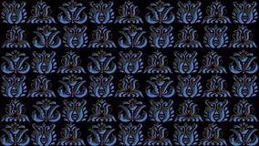 Abstract black background with blue patterns for the design of t. Abstract black background with blue patterns is computer graphics and can be used in the design Stock Illustration