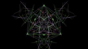 Abstract black background with colored lines. Silk symmetry series Royalty Free Stock Photo