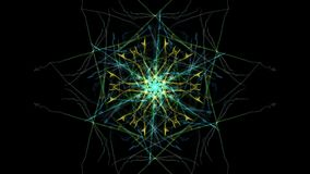 Abstract black background with colored lines. Silk symmetry series Royalty Free Stock Image