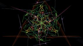 Abstract black background with colored lines. Silk symmetry series vector illustration