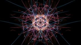 Abstract black background with colored lines. Silk symmetry series stock illustration