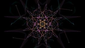 Abstract black background with colored lines. Silk symmetry series Royalty Free Stock Photos