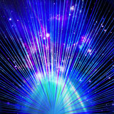 Abstract black background with colorful bursts of light Stock Photography