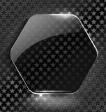 Abstract black background with glass element-frame Stock Photo
