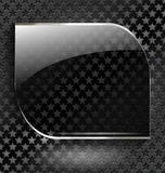 Abstract black background with glass element-frame Royalty Free Stock Image