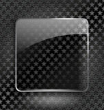 Abstract black background with glass element/frame Stock Image