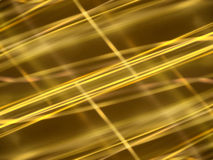 Abstract black background with gold luminous lines stock illustration