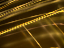 Abstract black background with gold luminous lines Stock Photos