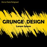 Abstract grunge background. Abstract black background with grunge yellow lines and text royalty free illustration