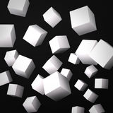 Abstract black background made of white cubes Stock Image