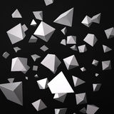 Abstract black background made of white prisms Stock Photos