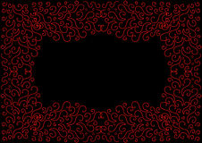 Abstract black background with a red pattern Stock Photography