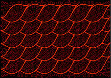 The abstract black background with a red pattern Royalty Free Stock Photography