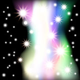 Abstract black background with stars. Raster 1. Raster Stock Photo