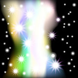 Abstract black background with stars. Vector. 2 Royalty Free Stock Image