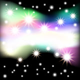 Abstract black background with stars. Vector. 3 Royalty Free Stock Photography