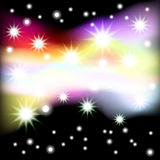 Abstract black background with stars. Vector. 4 Stock Images