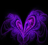 Abstract black background for Valentine greeting card. Blue,  Stock Photos