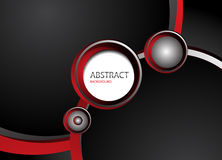 Abstract black background. Vector illustration Royalty Free Stock Photos