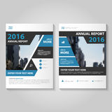 Abstract black blue annual report Leaflet Brochure Flyer template design, book cover layout design Royalty Free Stock Photos
