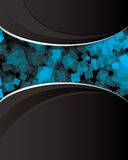 Abstract_black_and_blue_background Stock Photos