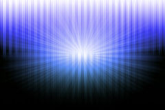 Abstract black on blue and white light Royalty Free Stock Image