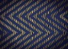 Abstract Black blue Zigzag pattern. Royalty Free Stock Photos