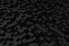 Abstract black box random position background 3d rendering Stock Photo