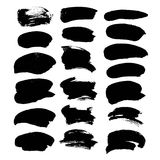 Abstract black broad strokes of ink Royalty Free Stock Images