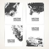 Abstract black brush texture banner set 1 Royalty Free Stock Photo