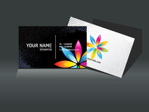 Abstract black business card template Stock Images