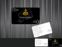 Abstract black business cards Royalty Free Stock Images