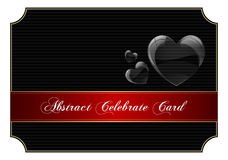 Abstract black celebrate card Royalty Free Stock Photo