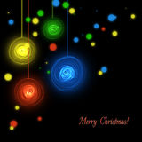 Abstract black Christmas background Stock Image