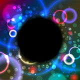 Abstract black circle Stock Photos