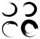 Abstract black circle symbols stock illustration