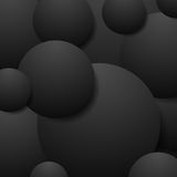 Abstract black circles tech background Royalty Free Stock Image