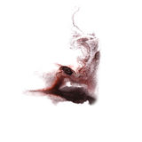 Abstract Black, claret drawing stroke ink Royalty Free Stock Image