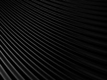 Abstract Black Cloth Waves Background. 3d Render Illustration Stock Photography