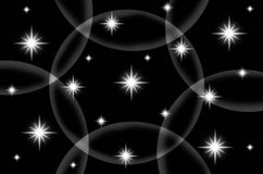 Abstract black color background with star Royalty Free Stock Photo