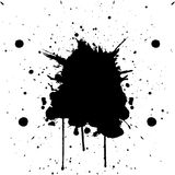 Abstract black color splatter.illustration  Royalty Free Stock Image