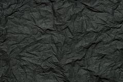 Abstract black crimped paper Royalty Free Stock Images