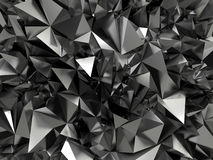 Abstract black crystallized background. 3d abstract black jet crystallized background Royalty Free Stock Image