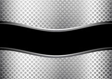 Abstract black curve banner silver line and circle mesh design luxury modern background vector. Royalty Free Stock Photo