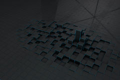 Abstract black 3d blocks  background Royalty Free Stock Images