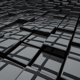 Abstract black 3D cubes Royalty Free Stock Image
